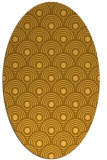 rug #299961 | oval yellow rug