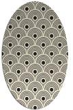 rug #299965   oval black circles rug