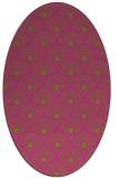 rug #299985 | oval light-green circles rug
