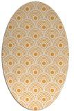rug #300005 | oval white retro rug