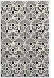 rug #300013    black retro rug
