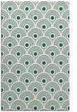 rug #300141 |  green circles rug