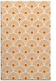 rug #300201 |  orange circles rug