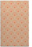 rug #300205 |  orange circles rug