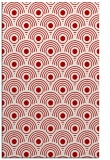 rug #300249 |  red circles rug