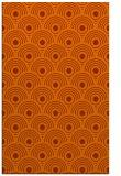 rug #300265 |  red-orange circles rug