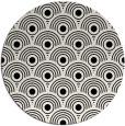 rug #300365 | round black circles rug
