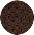 rug #300377 | round brown rug