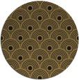rug #300381   round brown retro rug