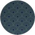rug #300393 | round blue retro rug