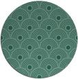 rug #300417   round blue-green circles rug