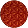 rug #300549 | round red-orange circles rug