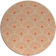 rug #300557 | round orange retro rug