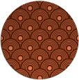 rug #300561 | round red-orange circles rug