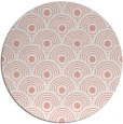 rug #300581 | round pink retro rug