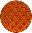 rug #300605 | round orange circles rug