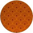 rug #300617 | round red-orange retro rug