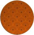 rug #300625 | round red-orange circles rug