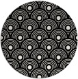 rug #300633   round black circles rug