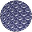 rug #300641 | round blue retro rug