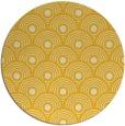 rug #300649 | round yellow retro rug