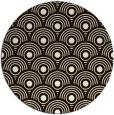rug #300657   round brown retro rug