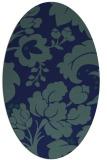 rug #301449 | oval blue rug