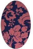 rug #301509 | oval blue-violet rug