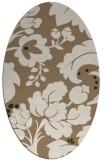 rug #301569 | oval mid-brown natural rug