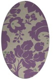 rug #301597 | oval purple natural rug