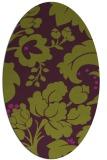 rug #301645   oval purple natural rug