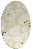 rug #301709 | oval yellow natural rug