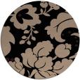rug #302133   round black natural rug