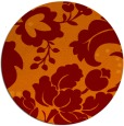 rug #302309 | round red-orange natural rug