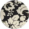 rug #302429   round black natural rug
