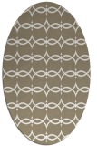 rug #304937 | oval beige geometry rug