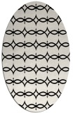 rug #304941 | oval white traditional rug