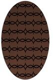 rug #304953 | oval brown rug