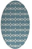 rug #304961 | oval white traditional rug