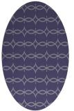 rug #305025   oval blue-violet traditional rug