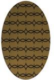 rug #305053 | oval black traditional rug