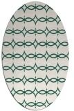 rug #305069 | oval green geometry rug