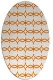 rug #305129   oval orange traditional rug