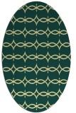 rug #305141 | oval yellow geometry rug