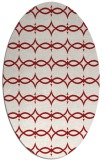 rug #305185 | oval red traditional rug