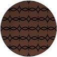 rug #305657 | round black geometry rug