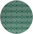 rug #305697 | round blue-green geometry rug