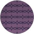 rug #305737 | round blue-violet rug