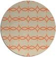 rug #305837 | round orange traditional rug