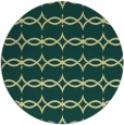 rug #305845 | round blue-green traditional rug
